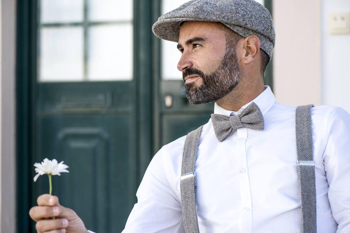 SATIN bronze set of bowtie suspenders wedding outfits groomsmen groom usher ring boy attire men Father Son birthday photoshoot buttonholes