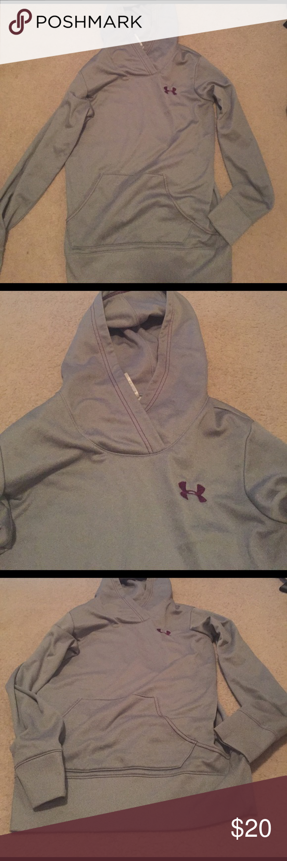 Grey under armour hoodie size small Grey under armour hoodie size small Under Armour Tops Sweatshirts & Hoodies