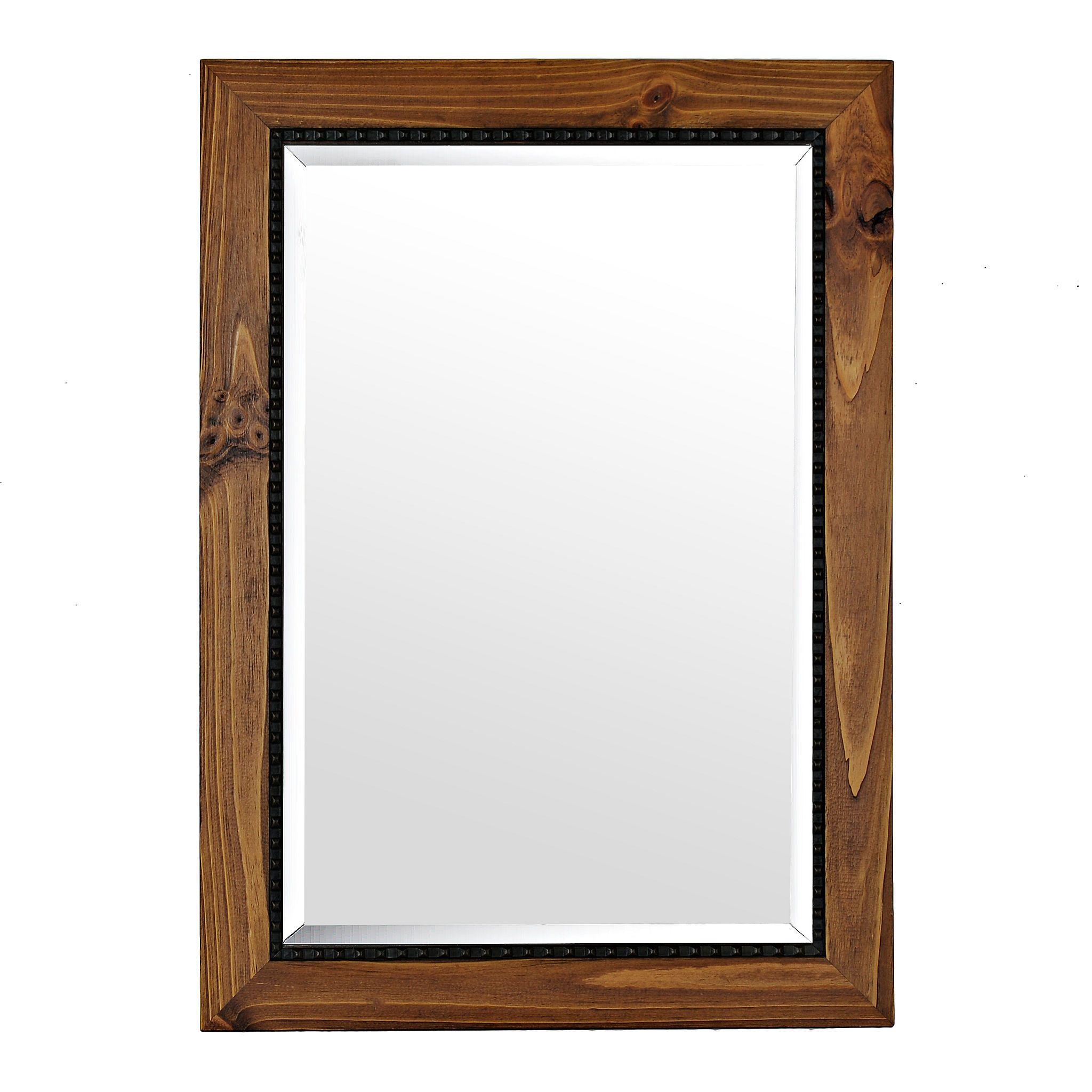 Barnwood Oak Framed Mirror, 31x43 in | Frame mirrors