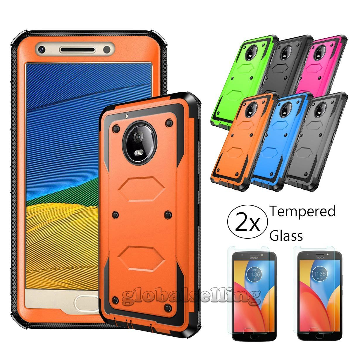 separation shoes 99d19 cb79f $9.99 - For Motorola Moto G5/E4 Plus/E4 Phone Case Cover+Tempered ...