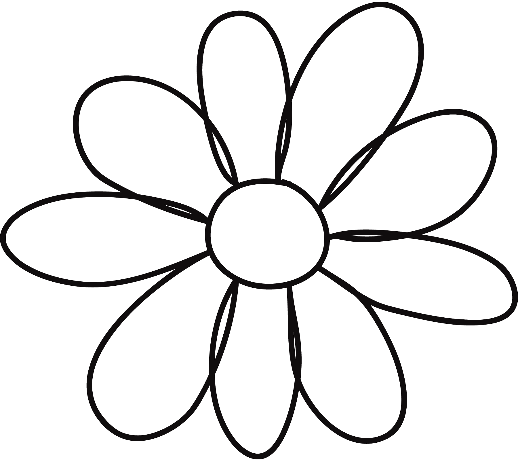 10 petal flower template clipart best clipart best for Daisy cut out template