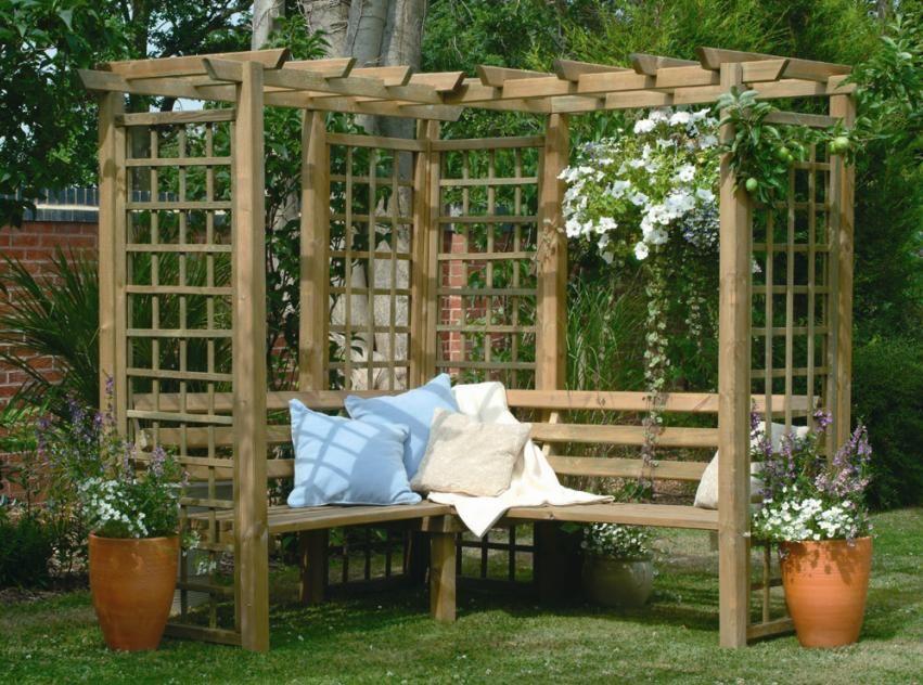 Модели и разновидности деревянных шпалер сделанных