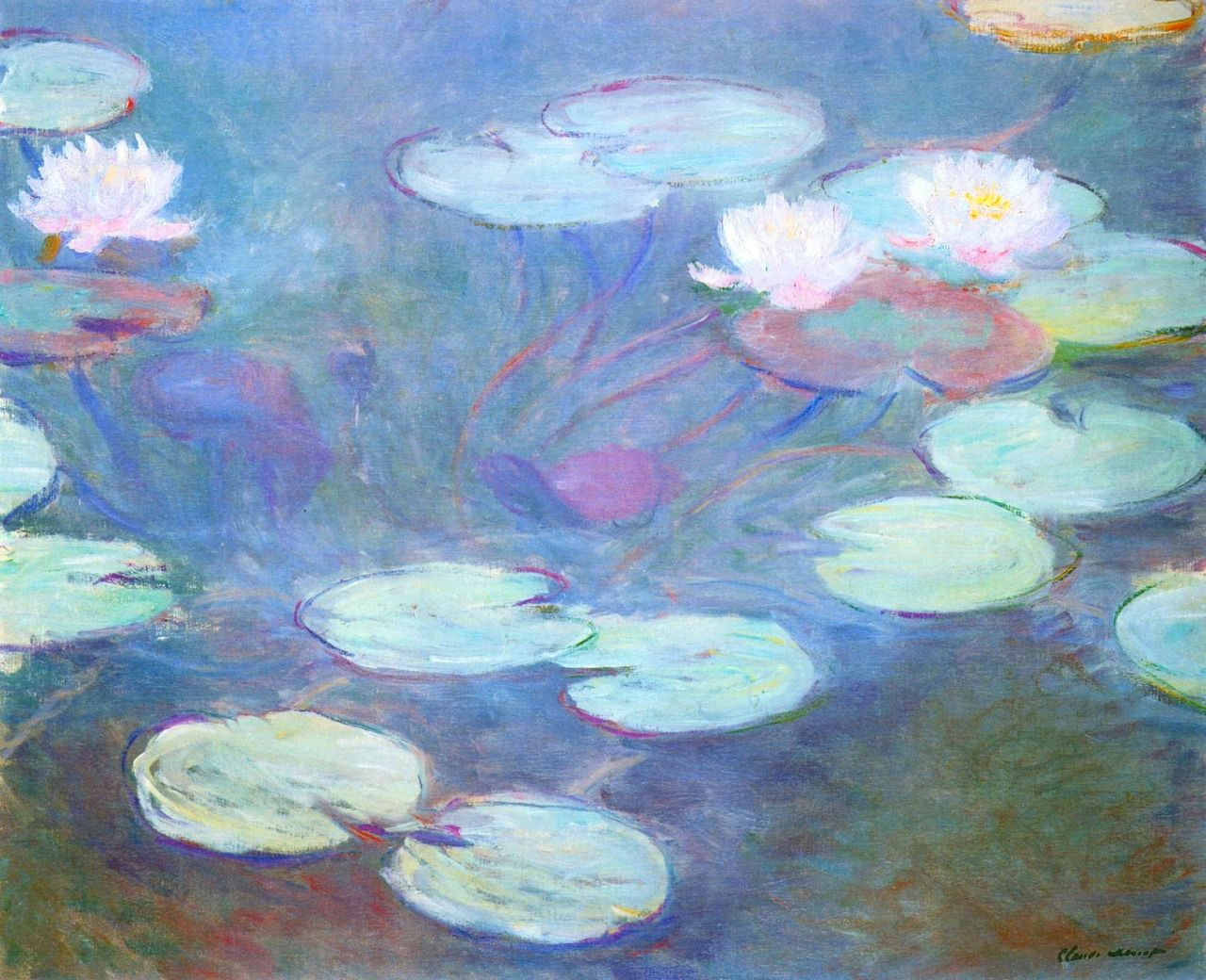 CLAUDE MONET — Water Lilies, Pink, 1899 Claude Monet