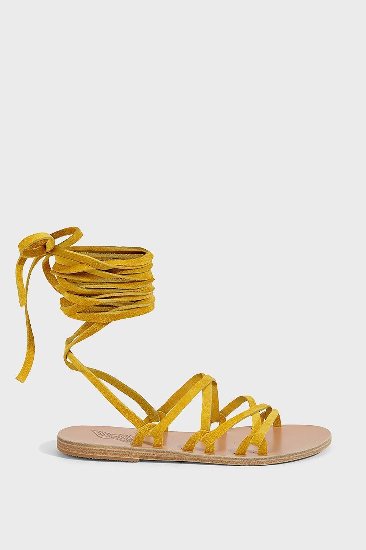 tie Simply Kariatida sandals - Yellow & Orange Ancient Greek Sandals El8JPIAM4