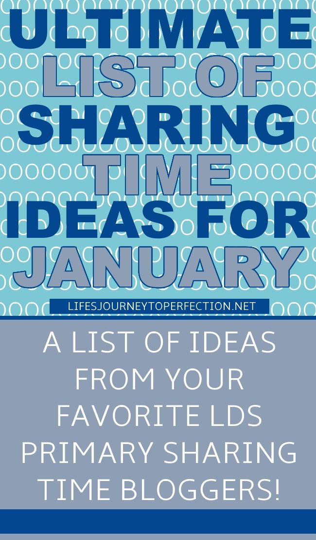 Ultimate List} of LDS Sharing Time ideas for January 2017: Agency Is ...