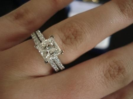 6e0f0e74eab Engagement ring: 1.5ct princess cut stone, with 0.25ct pave setting ...