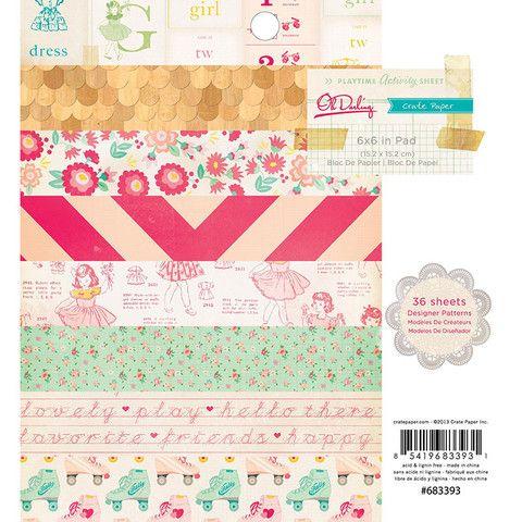 """Crate Paper """"Oh Darling"""" 6x6 Paper Pad – SCRPBK.co"""