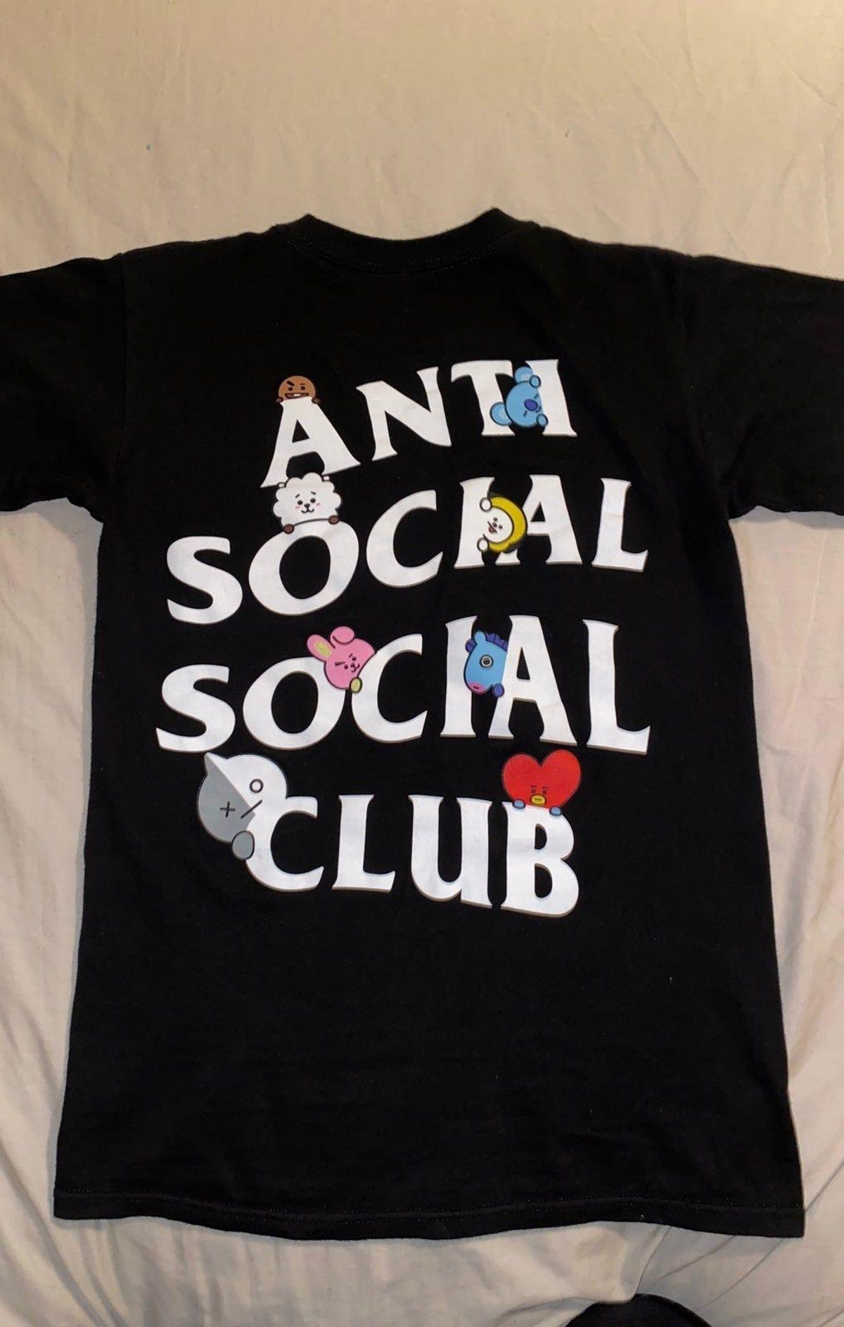 Bt21 X Anti Social Social Club T Shirt Anti Social Social Club Shirt Design Inspiration Anti Social