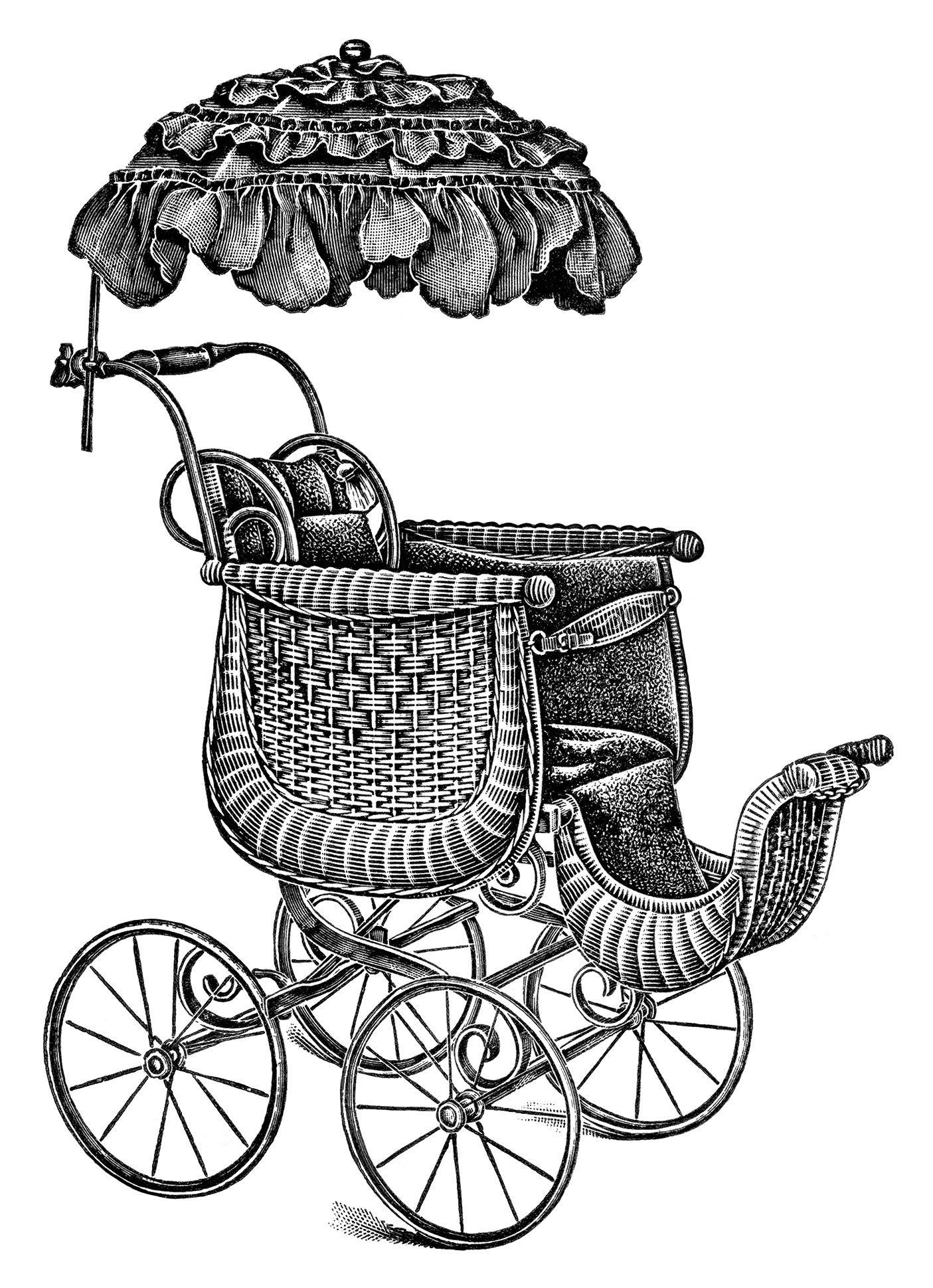 Clip Art Vintage Baby Strollers Baby Clip Art