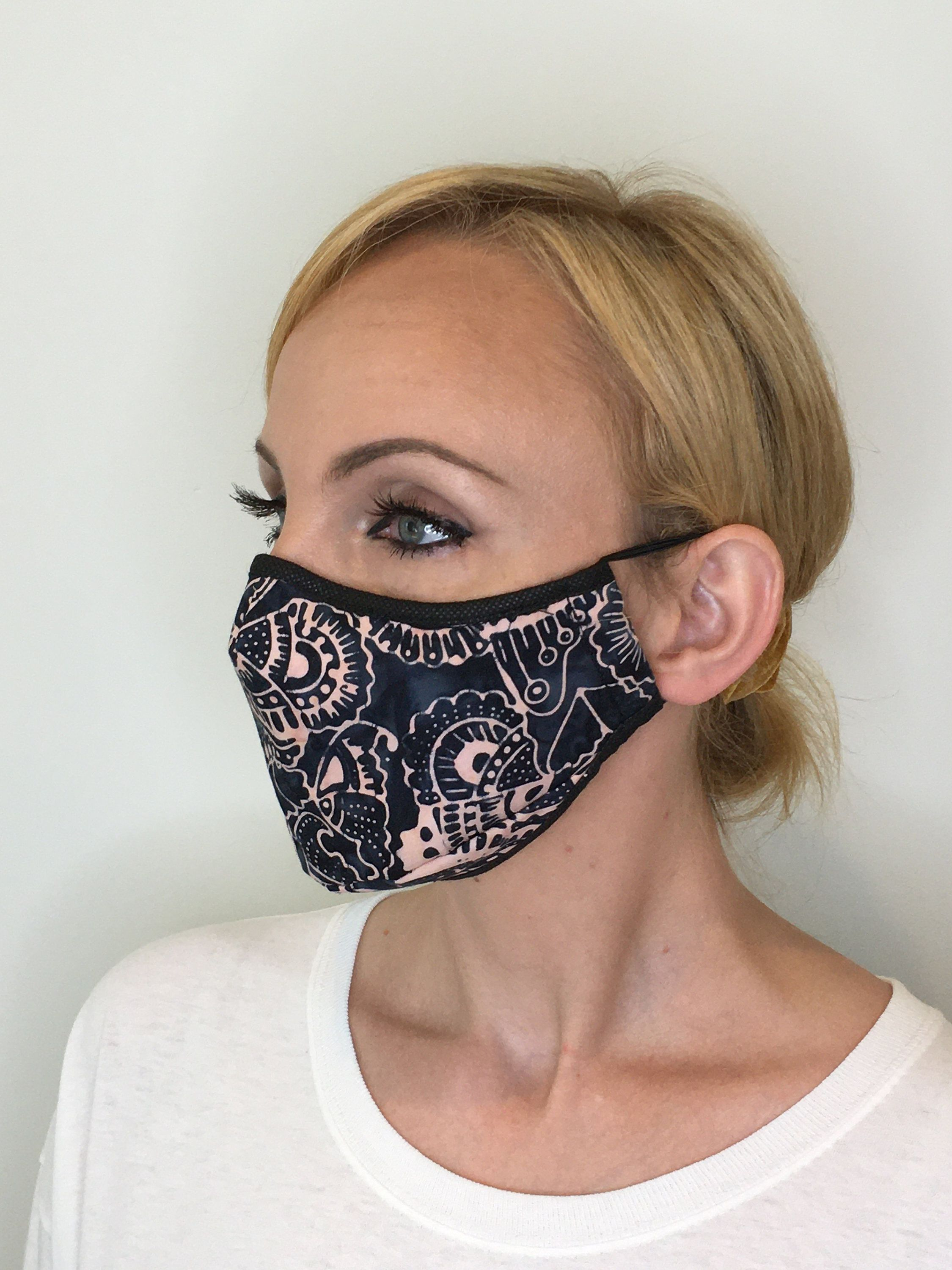 Premium Face Mask For Women Black Pink Triple Layer Etsy In 2020 Fashion Face Mask Diy Face Mask Mask