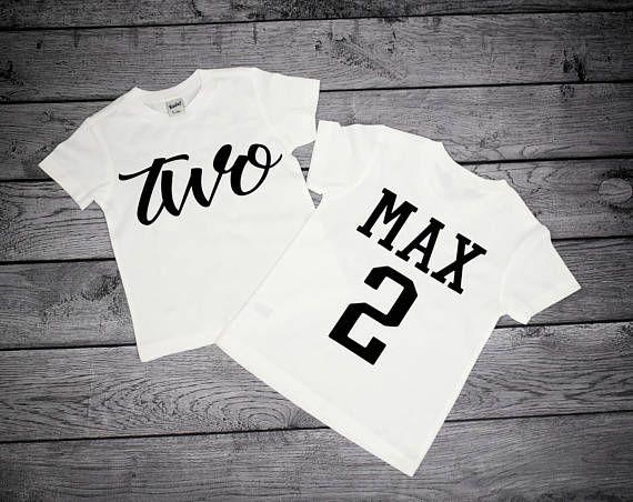 Two Year Old Birthday Shirt Boy Boys 2nd