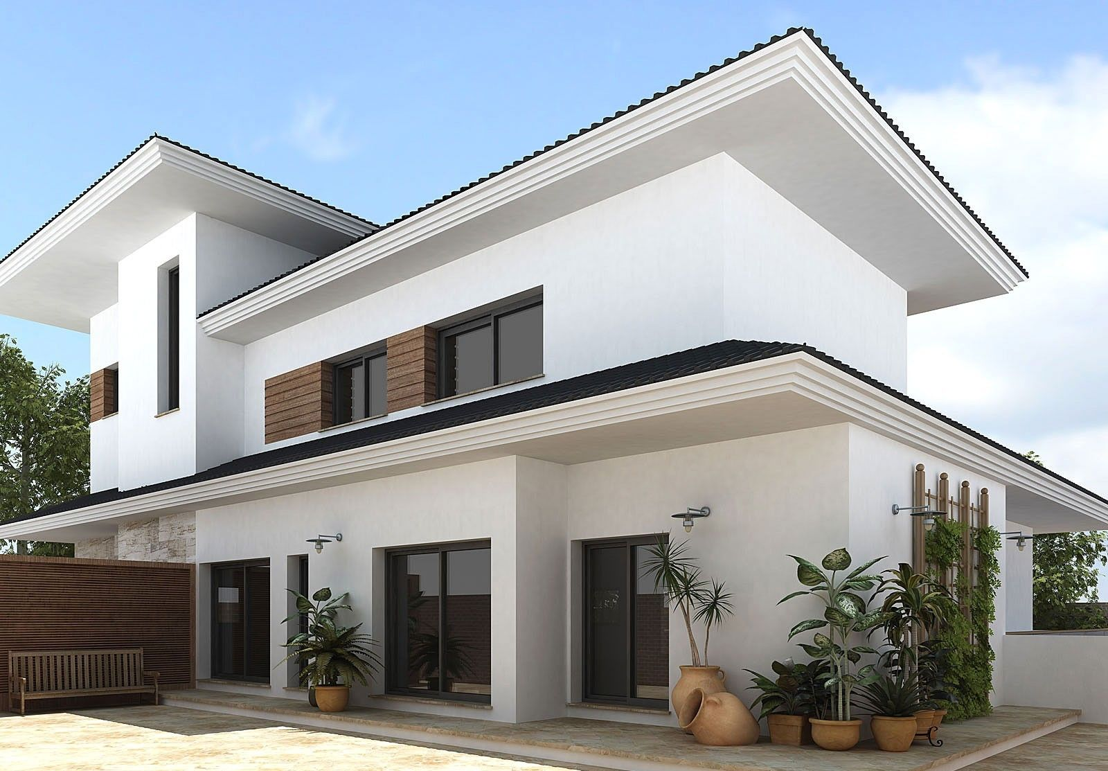 minimalist white home exterior design interior design exterior outdoors showers is it possible to - Designs Of Houses