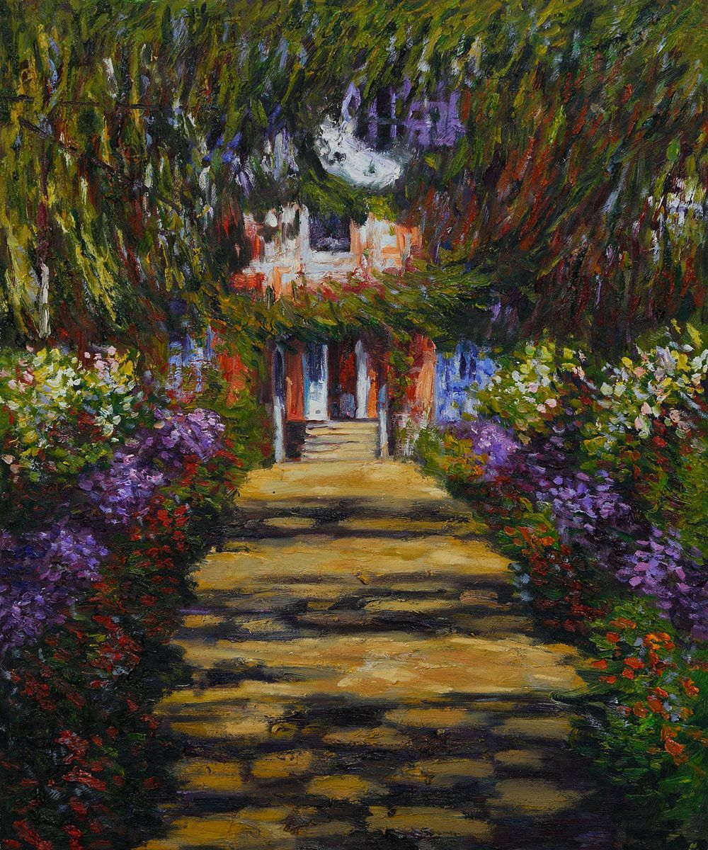 Wall Art: Monet - Garden Path at Giverny - Painting Reproduction ...