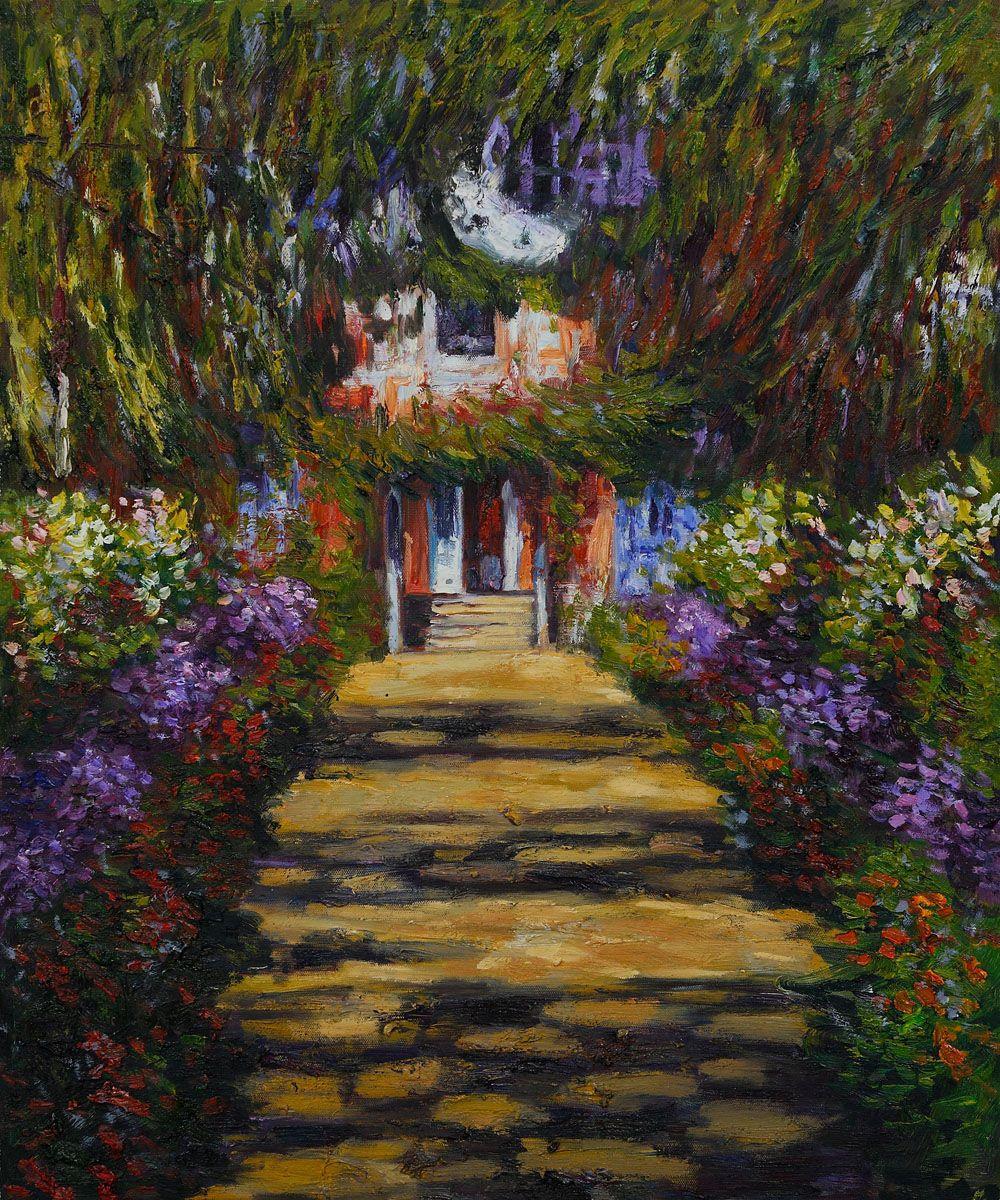 Artists Garden at Giverny by Claude Monet Monets Garden