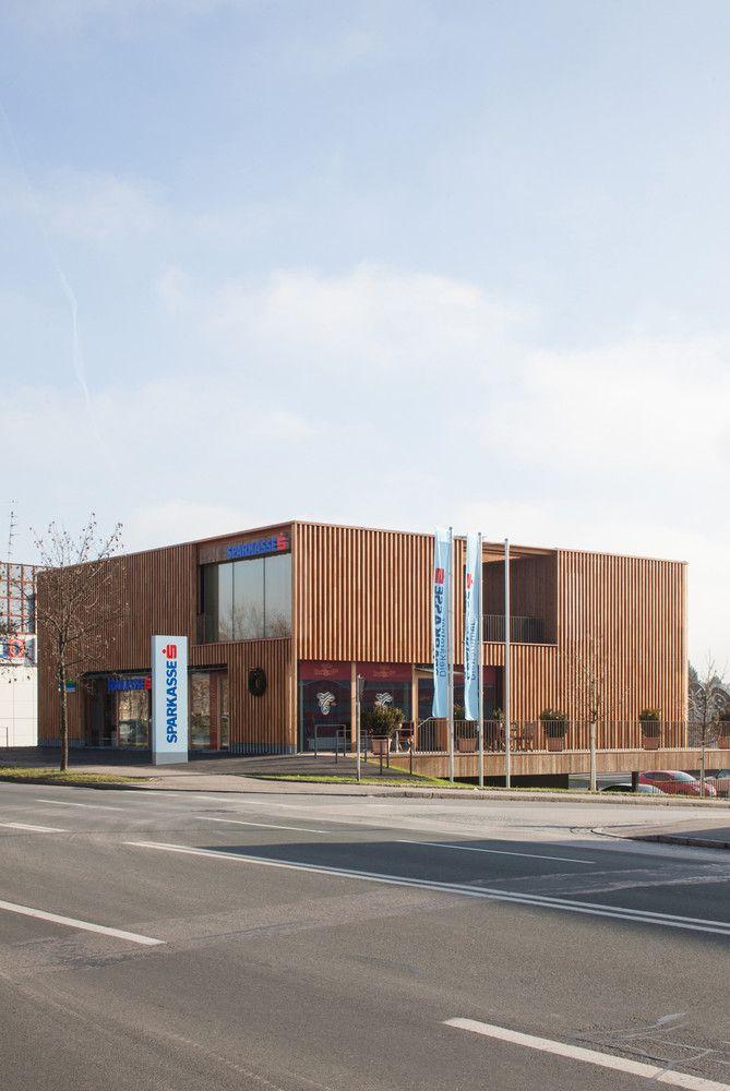 Gallery Of Sparkasse Bank Dietger Wissounig Architekten 3 Architecture Wood Arch Building