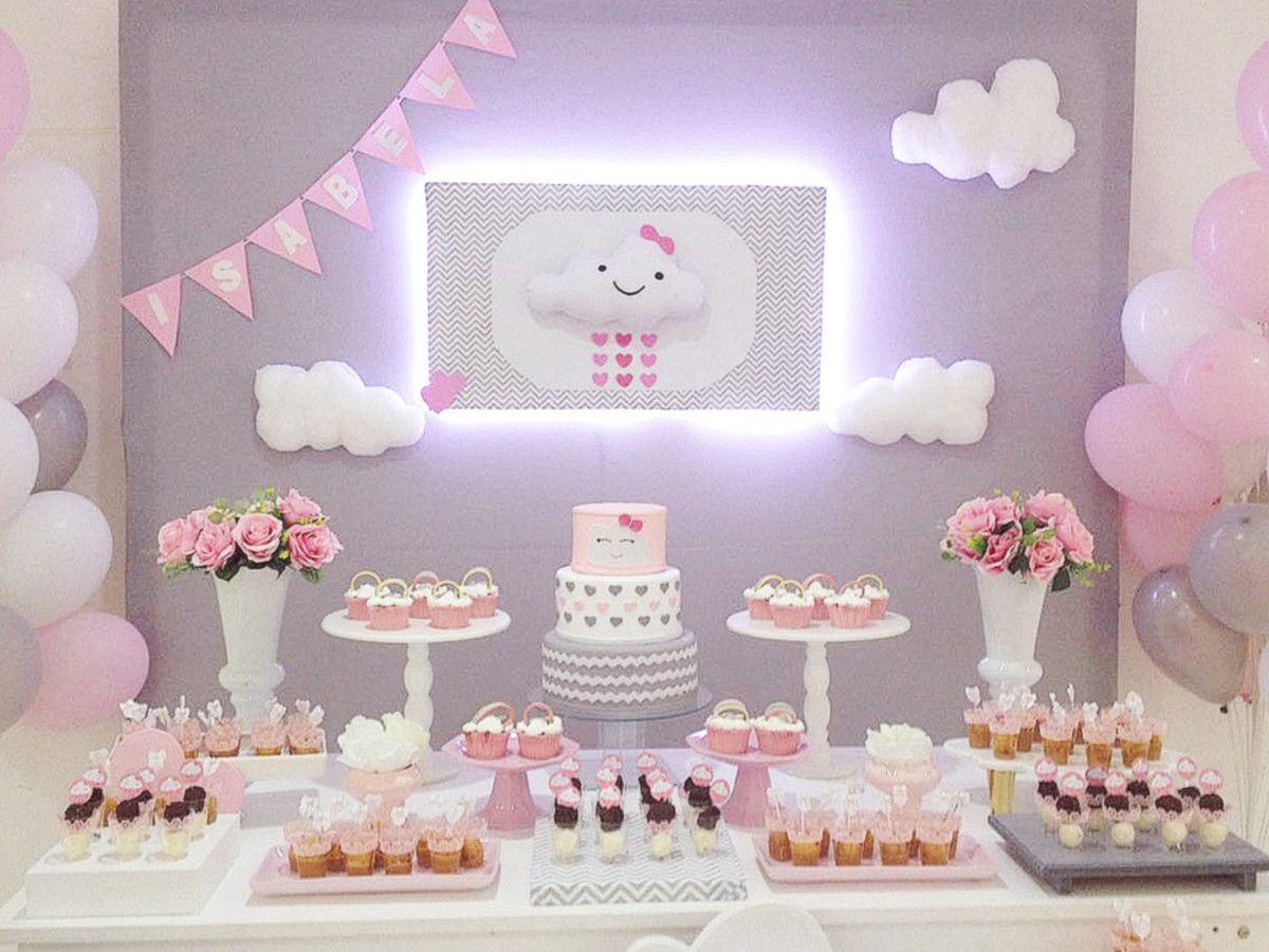 Aluguel Decoraç u00e3o de Festa de Aniversário e chá de bebe Nuvem Para proporcionar ao Cliente uma  -> Decoração Chá De Bebê Nuvem