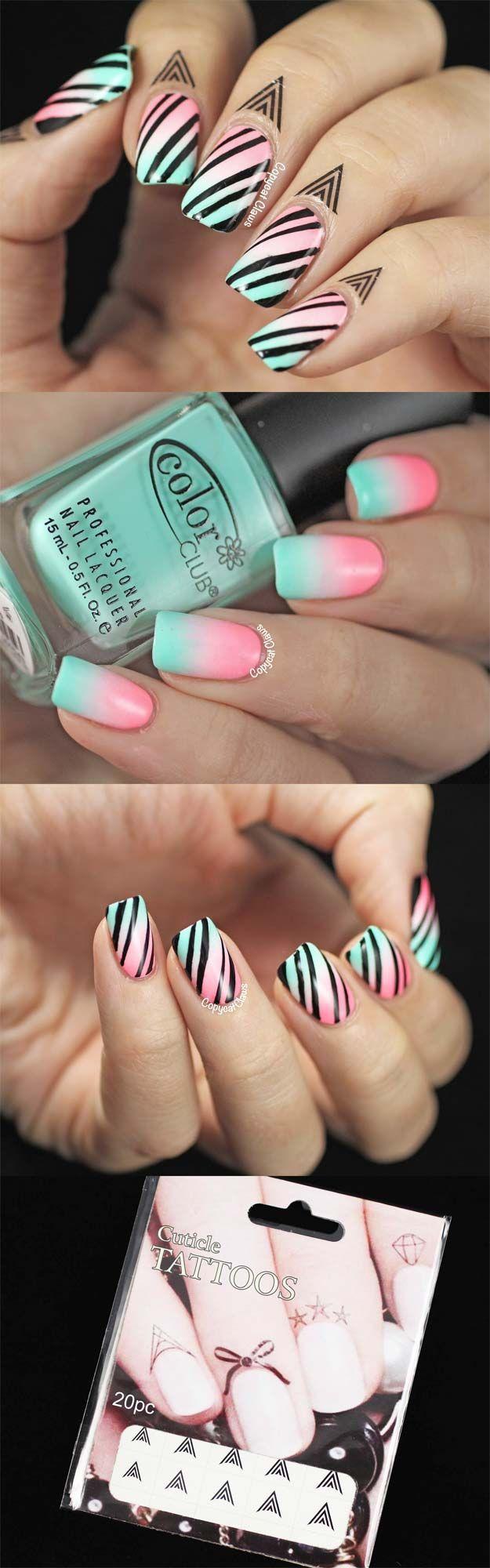 36 Striped Nail Art Ideas Pinterest Nail Art Stripes Nail Tape