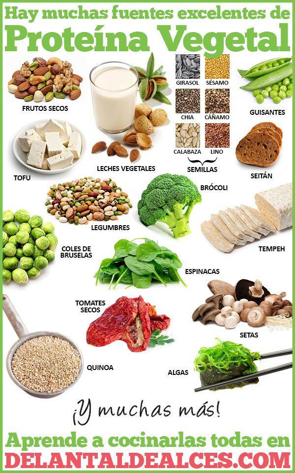 Alimentos vegetales con m s prote nas infograf as veganismo pinterest legumbres los - Alimentos con muchas vitaminas ...
