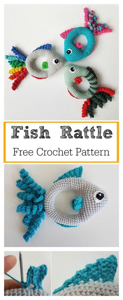 Soft Fish Rattle Toy Free Crochet Pattern | DAWN | Pinterest ...