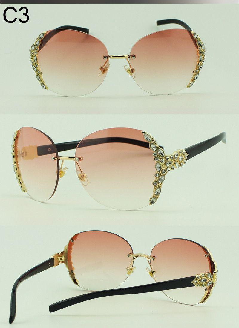 2bd883a4f5 Aliexpress.com   Buy Crystal Diamond Rimless Sunglasses Women Brand  Designer Summer Vintage Style Gradient