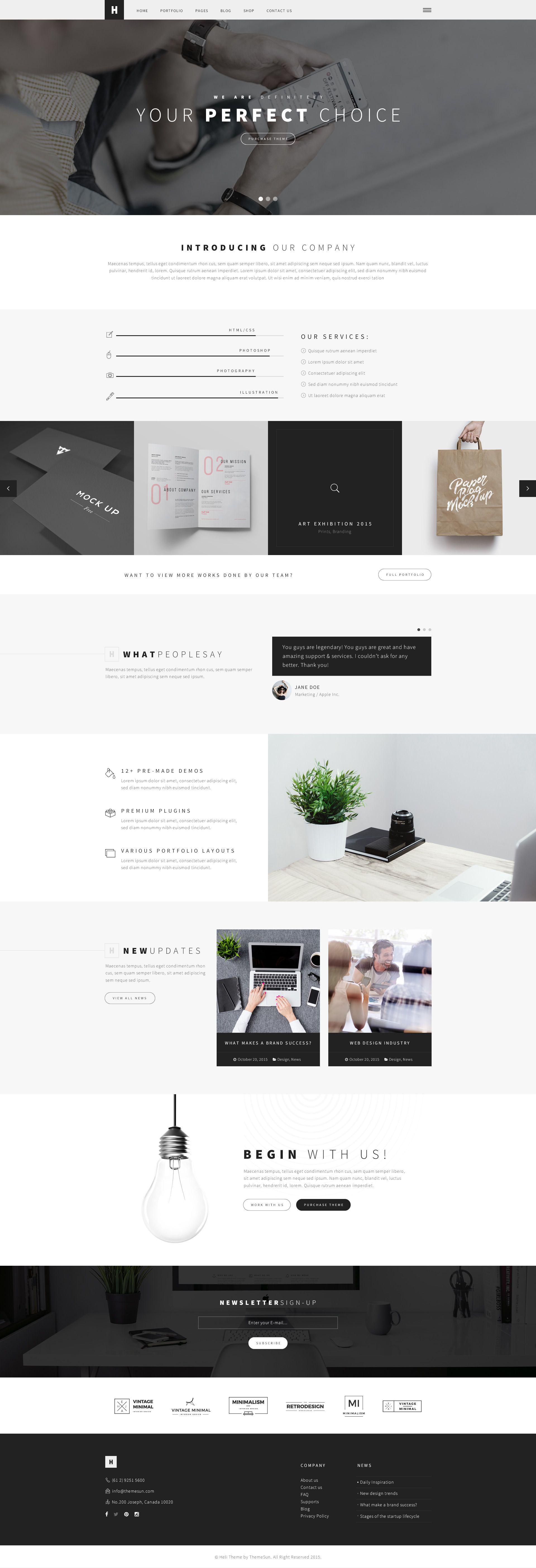 Heli A Creative Multipurpose Psd Template Clean Web Design Inspiration Webpage Design Clean Web Design