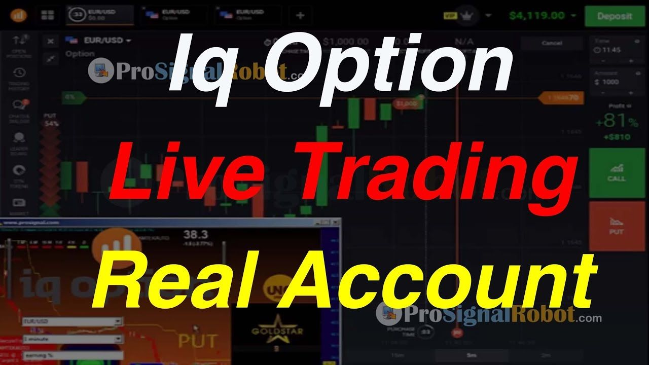Pro Signal Robot Iq Option Live Trading Real Account