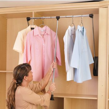 Pull Down Closet Rod 21 1 2 26 Width Closet Rods Rev A Shelf