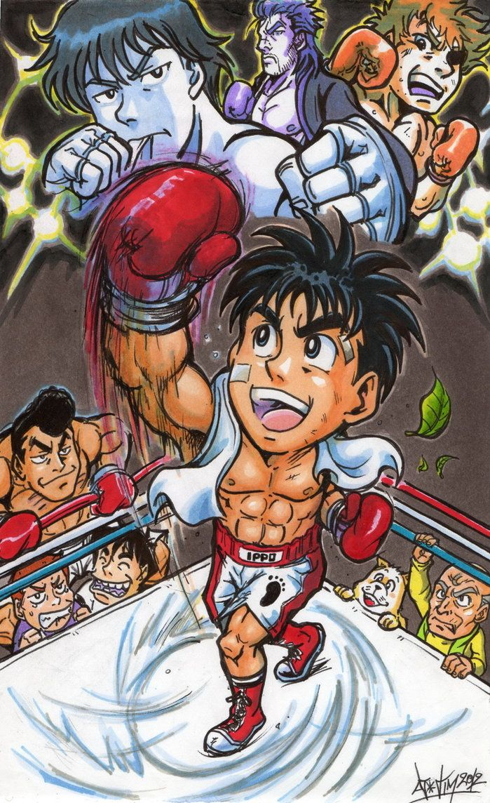 Hajime No Ippo Tribute By Djiguito Deviantart Com On Deviantart Anime Manga Anime Anime Fantasy