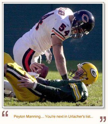 Image detail for -Brian Urlacher vs Peyton Manning
