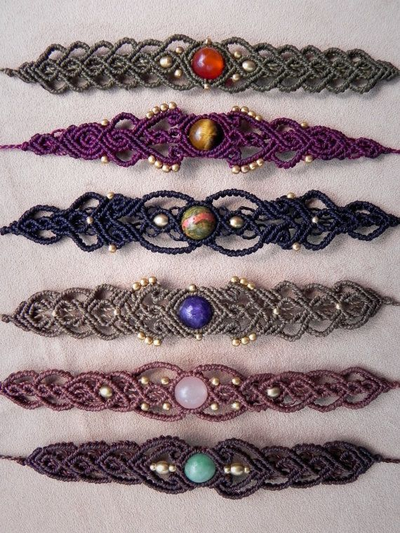 Macrame Delicate Tribal bracelet for gypsy hearts and bohemian souls.  Spiritual Jewelry. Healing Crystals. 20674ccd4bd