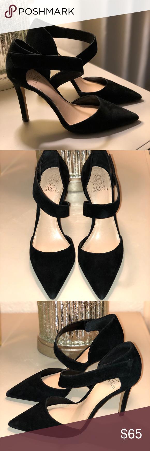 1b62b923e5c Vince Camuto Carlotte Pump Hardly worn. Black suede. 100% Leather ...