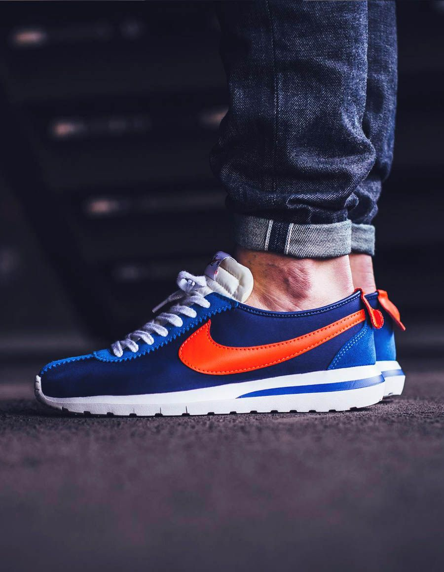on sale f620e 62a13 NIKE Roshe Cortez Blue × Orange | MAN'S WEAR | Sneakers nike, Nike ...