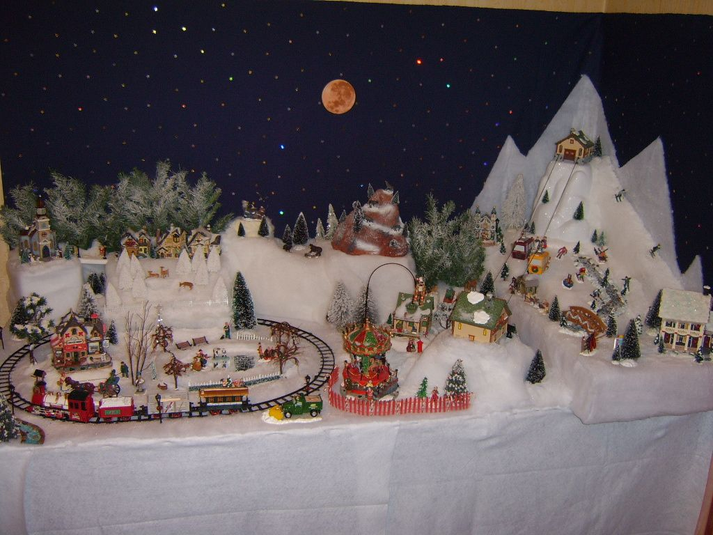 Image du blog cr ches et villages de no l pinterest village de noel - Village de noel miniature ...