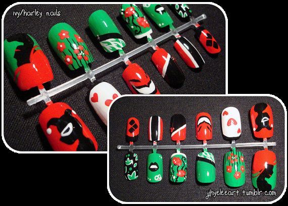 I Want Nail Art Pinterest Poison Ivy Nails Poison Ivy And