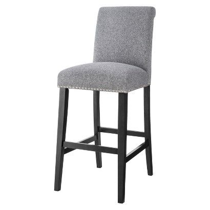 Awesome Counter Height Bar Stools with Nailheads