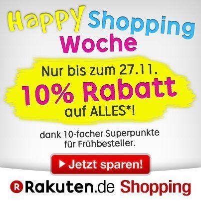 Happy Shopping bei Rakuten! Weil schenken Spaß macht. Bis zum 27.11. 10-fache Superpunkte auf ALLES!!!!