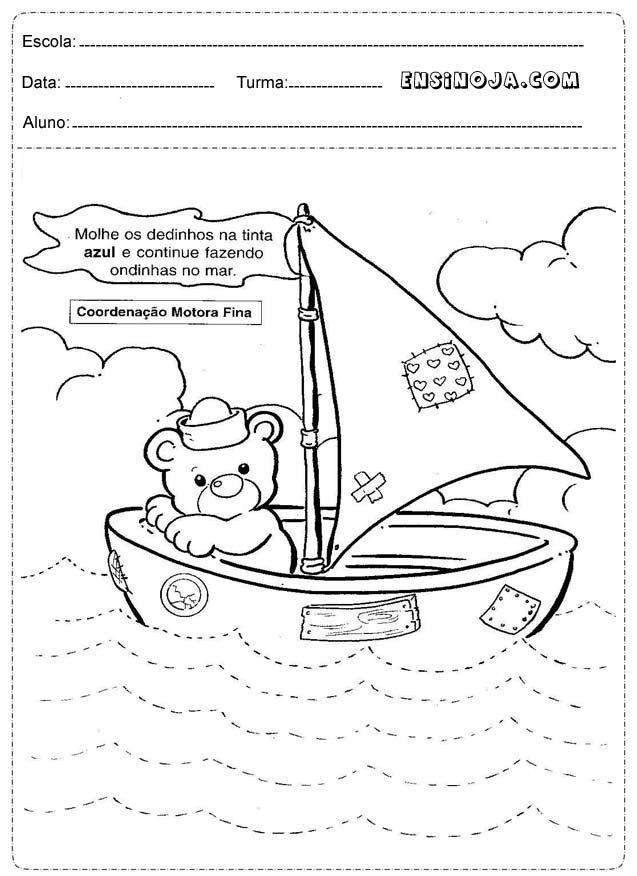 Atividades com Barquinhos para educação infantil - Ensino Já ...