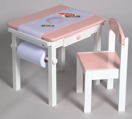 Art Table Amp Chair Set In Pink Table And Chairs Big Kids