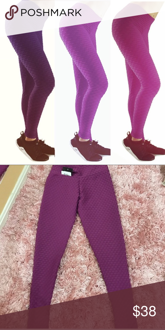 e3569c1a9ddf8 Brazilian Honeycomb Leggings Figure Slim COLORS: DARK PURPLE MAGENTA SIZES:  SMALL/MEDIUM OR MED/LARGE Check my other listings for other colors!  Brazilian ...
