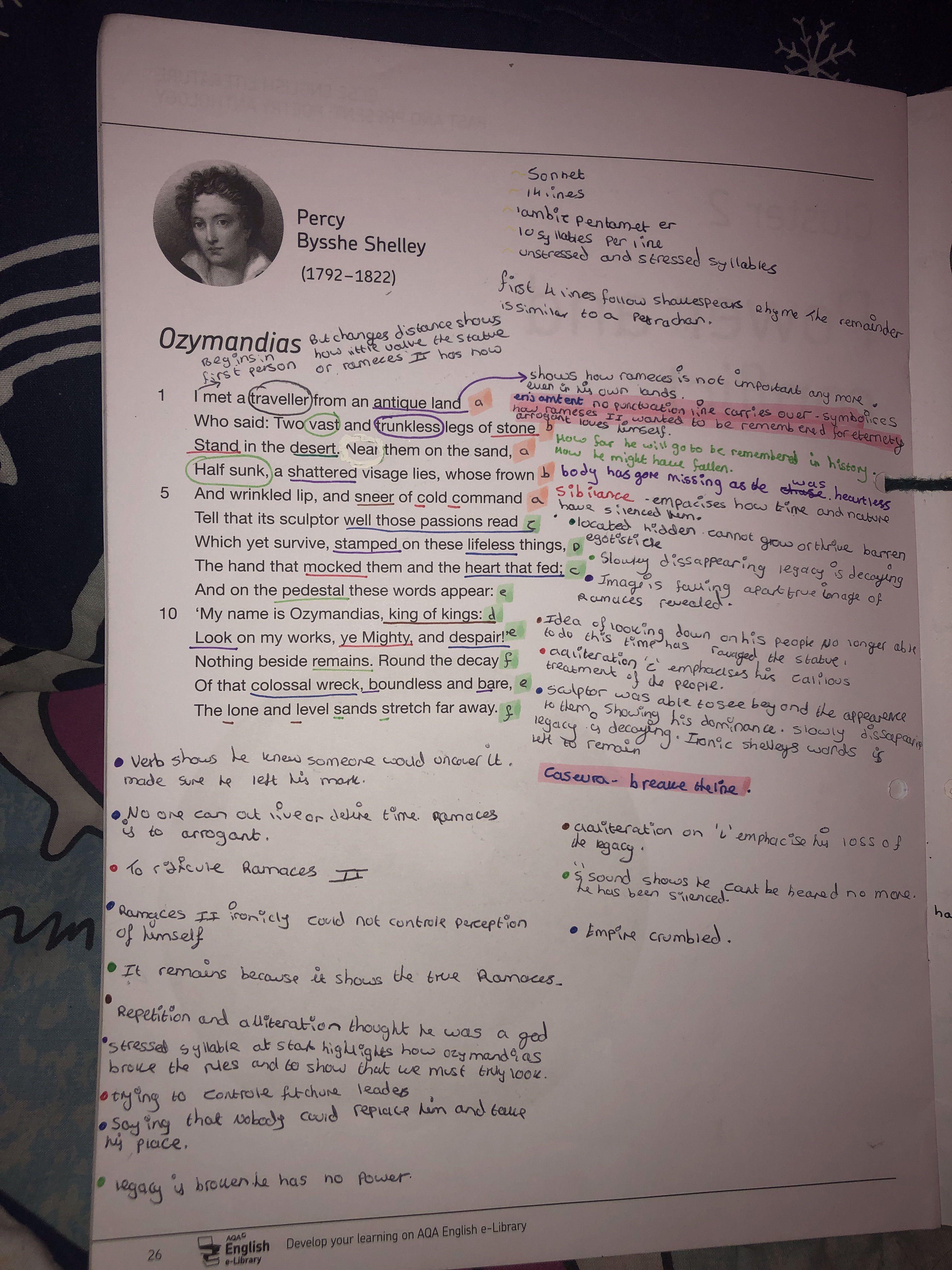 Ozymandia Poem Analysi Analysis By Percy Bysshe Shelley
