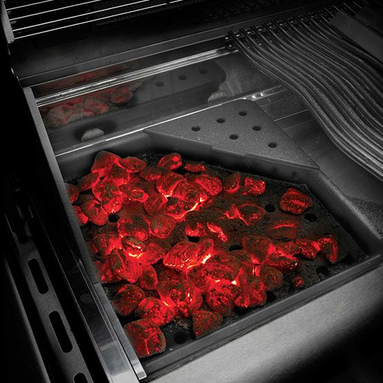 Cast Iron Charcoal And Smoker Tray By Napoleon Turn Your Napoleon Prestige And Lex Gas Grills