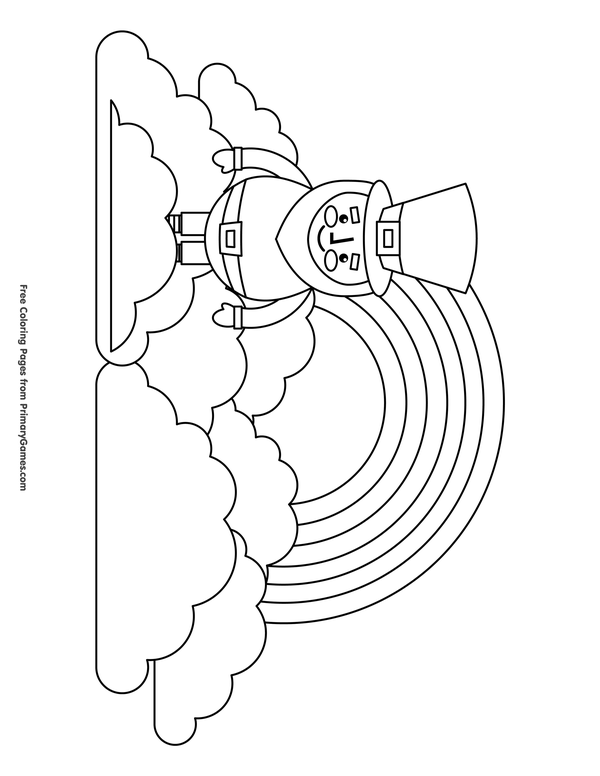 st patrick s day coloring pages ebook leprechaun with rainbow