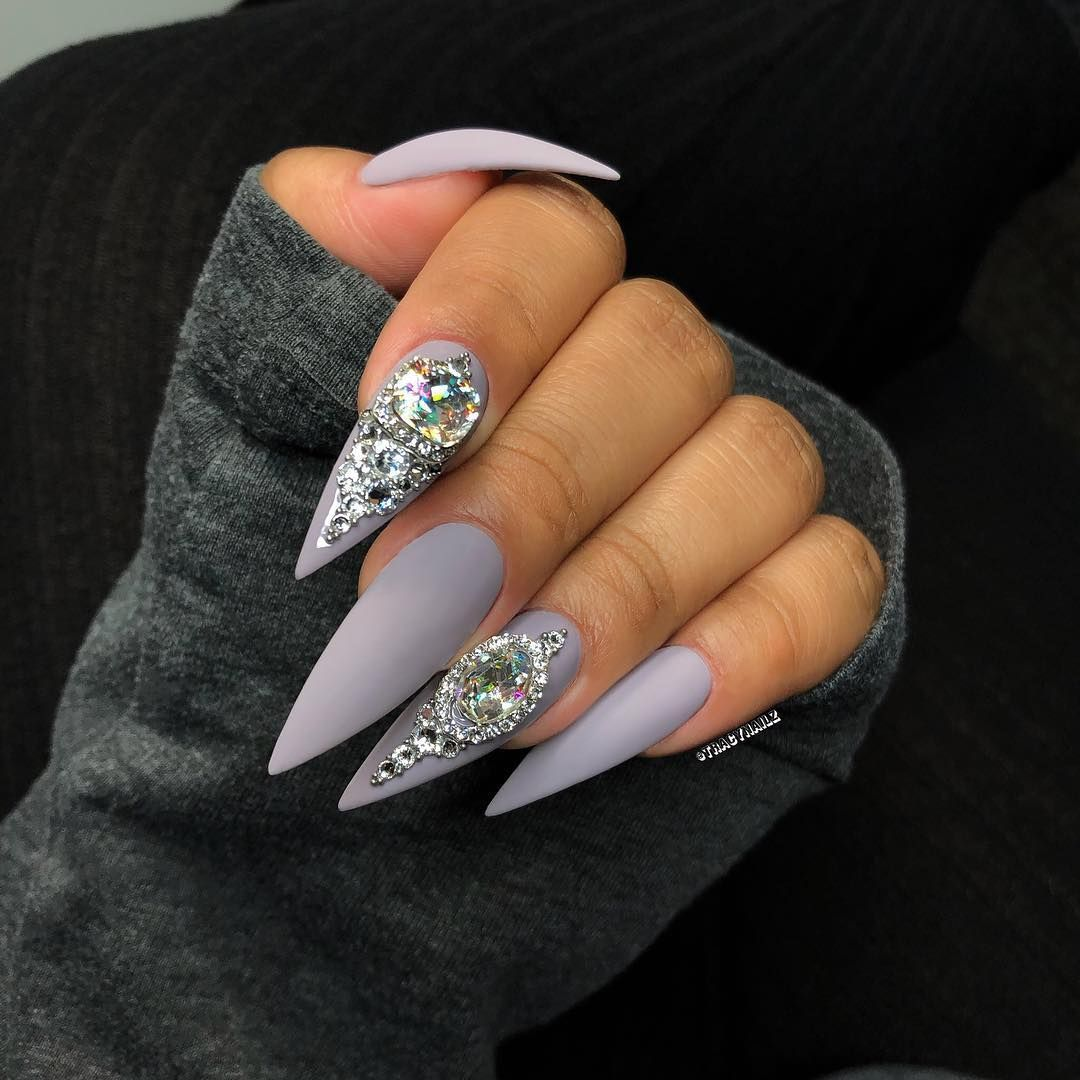 Image may contain one or more people and closeup   Matte stiletto ...