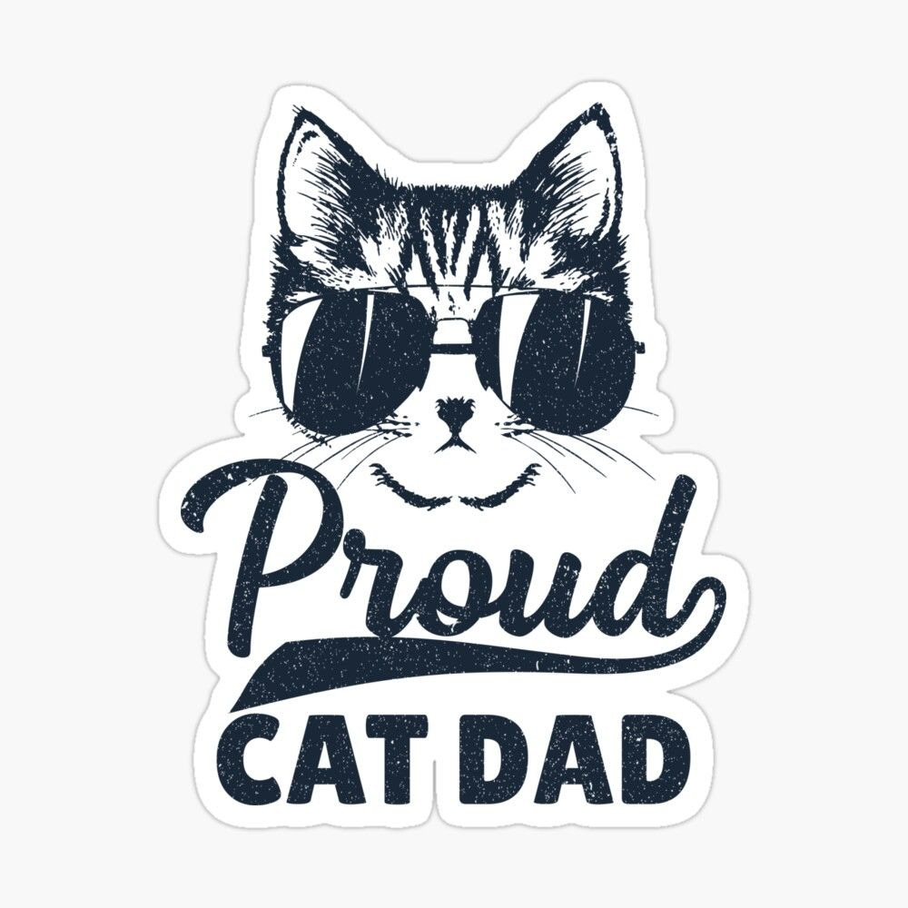'Funny Best Cat Dad Ever Idea for Father's Day Gift