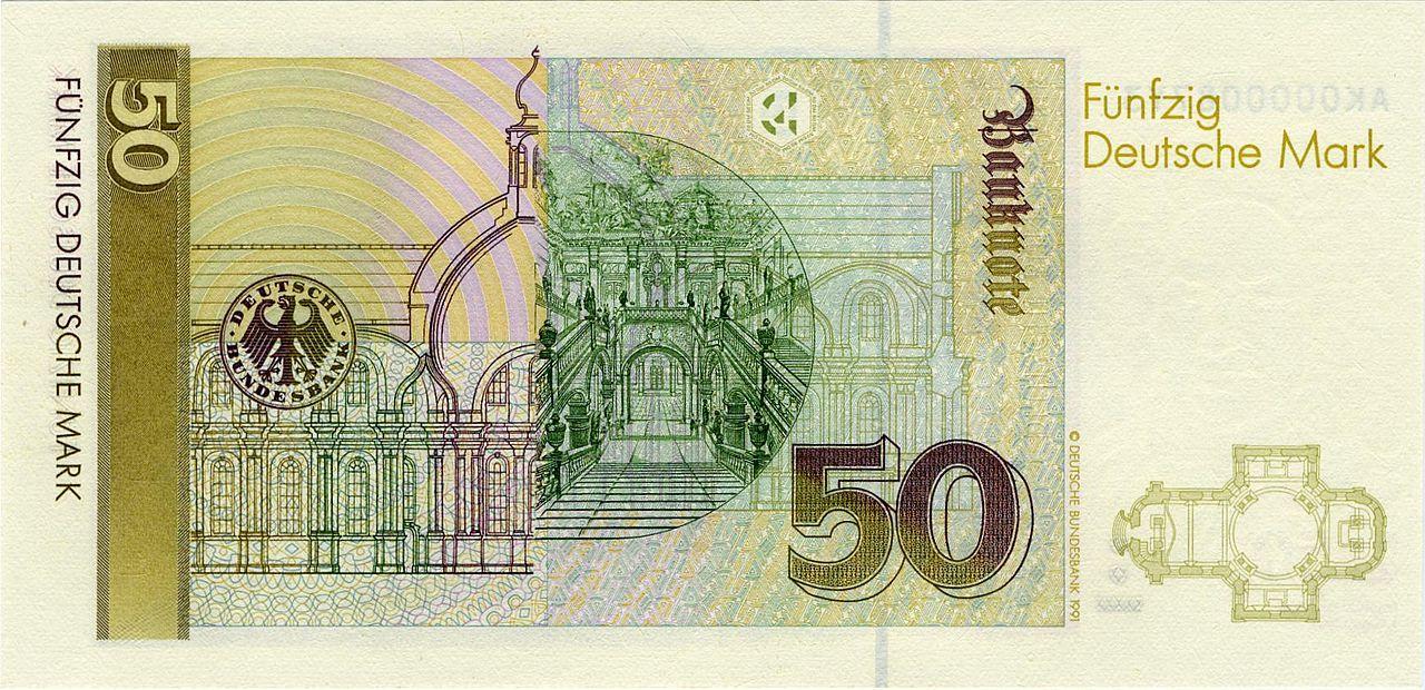 50 Dm 1991 Rs Jpg Deutsche Mark Briefmarken Euro Wahrung