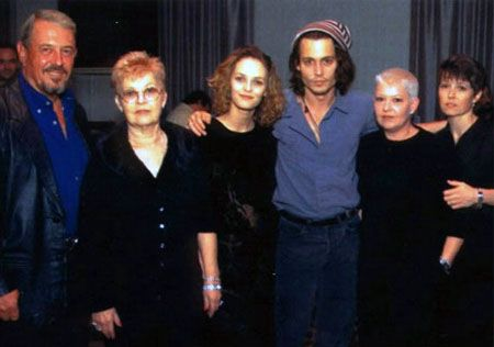 Johnny Depp's father, Danny, his mother, half sister and ...