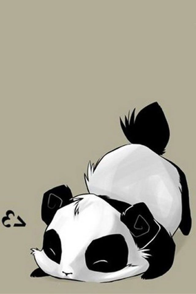 Hd Black And White Panda Iphone 4s Wallpapers Panda Wallpapers Cute Panda Wallpaper Panda Wallpaper Iphone