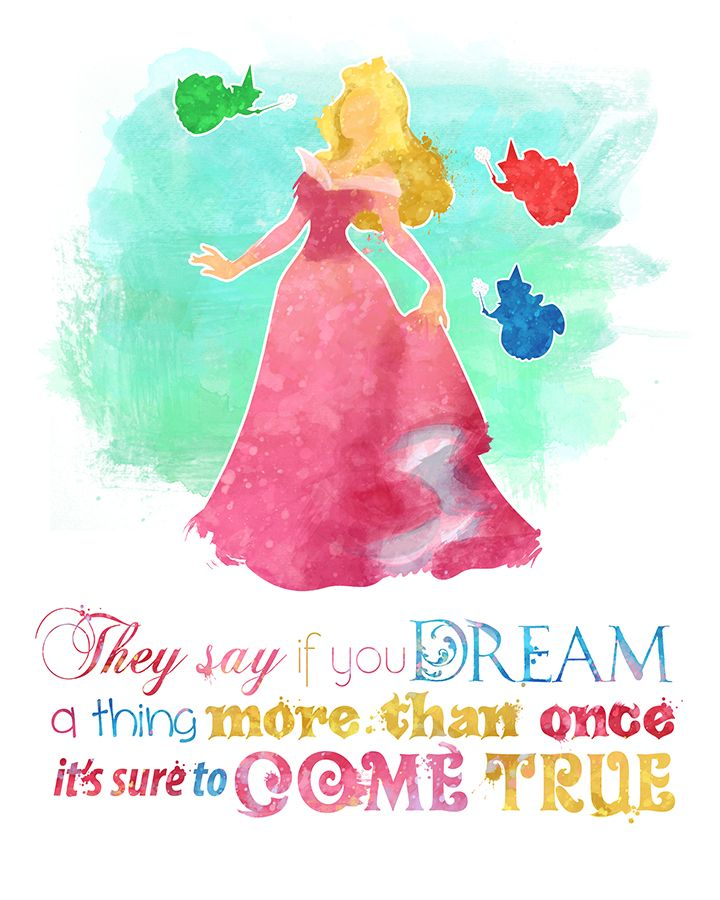 Sleeping Beauty Princess Aurora 8x10 Printable Poster Digital Instant Download Disney Quote Wall Art Home Decor Disney Princess Disney Princess Quotes Disney Quotes Quotes Disney