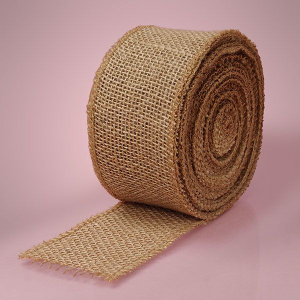 Natural Jute Craft Ribbon Wired Finished Edge Shelley B Home And Holiday Com Jute Crafts Christmas Colour Schemes Burlap