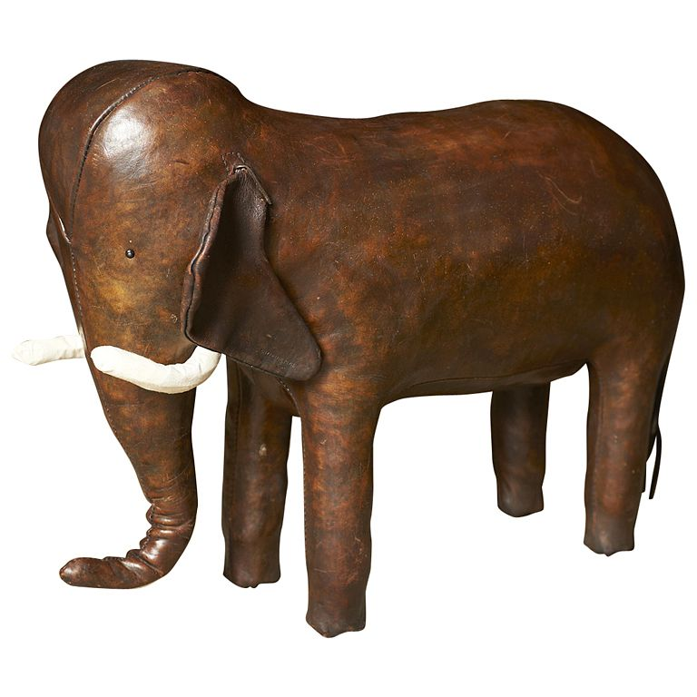 1stdibs - Vintage Abercrombie & Fitch Leather Elephant Foot Rest ca. 1960 explore items from 1,700  global dealers at 1stdibs.com